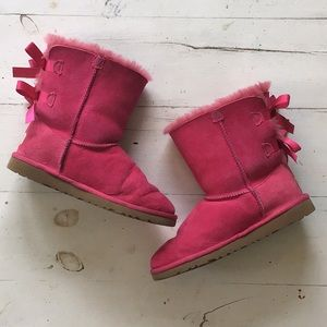 Pink Bailey Bow Ugg Boots sz 4